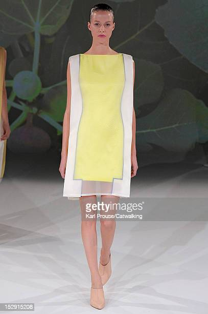 Model walks the runway at the Chalayan Spring Summer 2013 fashion show during Paris Fashion Week on September 28, 2012 in Paris, France.