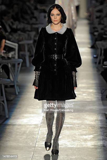 A model walks the runway at the Chanel Autumn Winter 2012 fashion show during Paris Haute Couture Fashion Week on July 3 2012 in Paris France