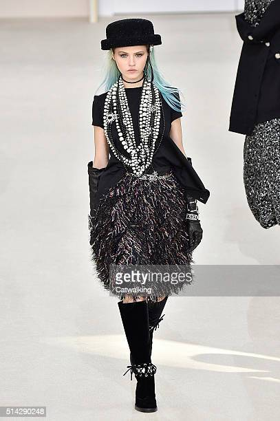 73c9a8c18db A model walks the runway at the Chanel Autumn Winter 2016 fashion show  during Paris Fashion