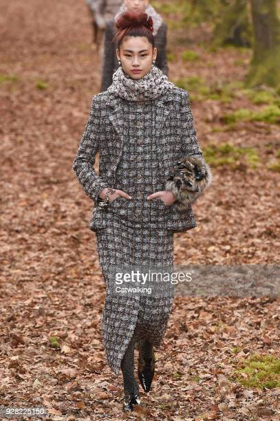 Model walks the runway at the Chanel Autumn Winter 2018 fashion show during Paris Fashion Week on March 6, 2018 in Paris, France.