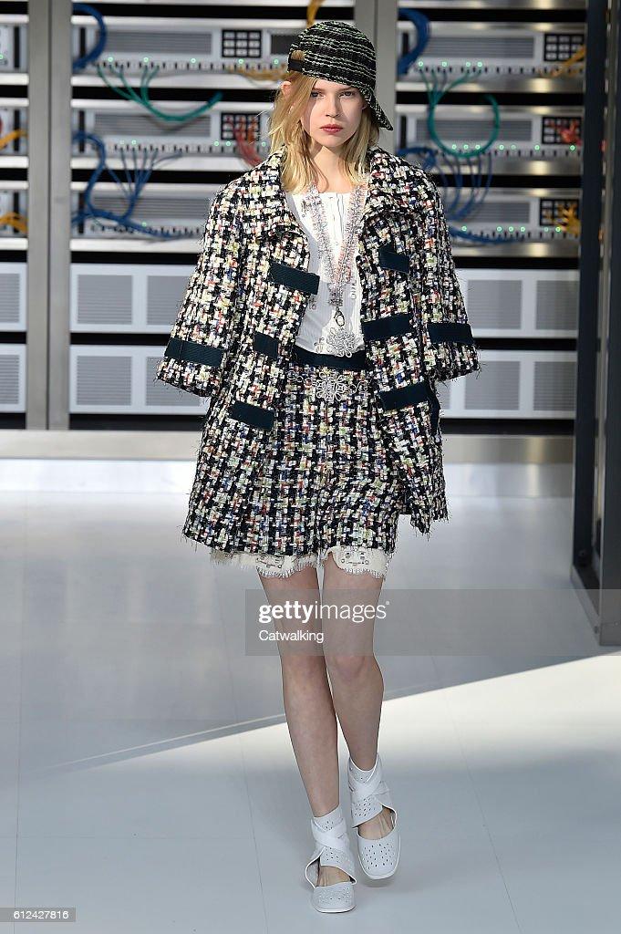 25e70ec63f A model walks the runway at the Chanel Spring Summer 2017 fashion ...