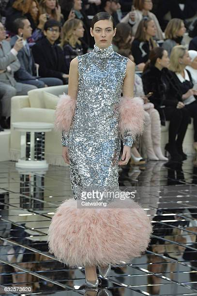Model walks the runway at the Chanel Spring Summer 2017 fashion show during Paris Haute Couture Fashion Week on January 24, 2017 in Paris, France.