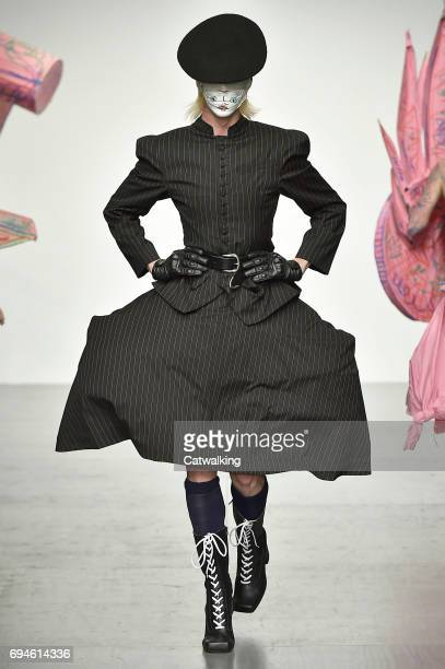 A model walks the runway at the Charles Jeffrey LOVERBOY Show Spring Summer 2018 fashion show during London Menswear Fashion Week on June 10 2017 in...