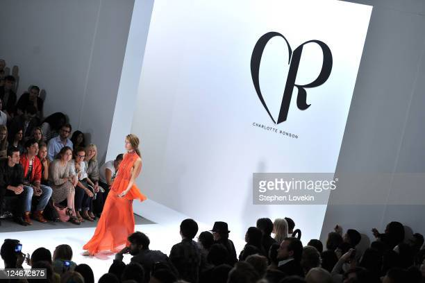 A model walks the runway at the Charlotte Ronson Spring 2012 fashion show during MercedesBenz Fashion Week at The Stage at Lincoln Center on...