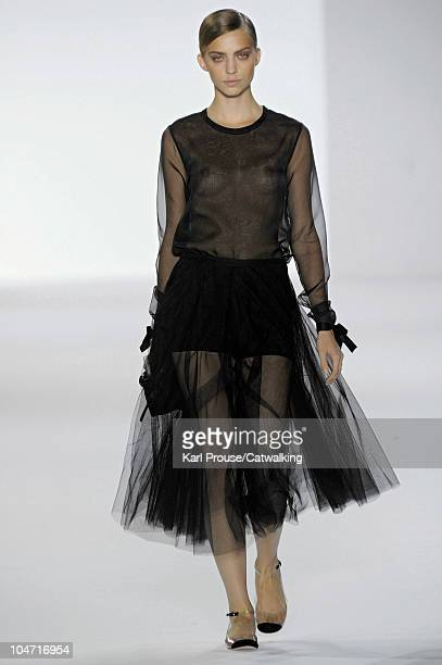A model walks the runway at the Chloe fashion show during Paris Fashion Week on October 4 2010 in Paris City
