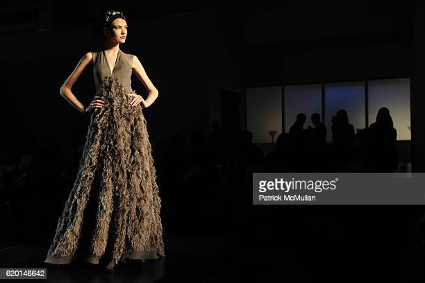 A model walks the runway at the CHRISTIAN COTA Fall 2008 Collection at Espace on February 7 2008 in New York City