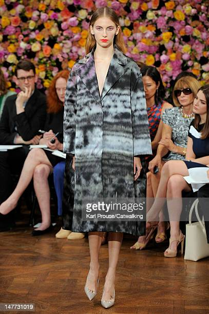 A model walks the runway at the Christian Dior Autumn Winter 2012 fashion show during Paris Haute Couture Fashion Week on July 2 2012 in Paris France
