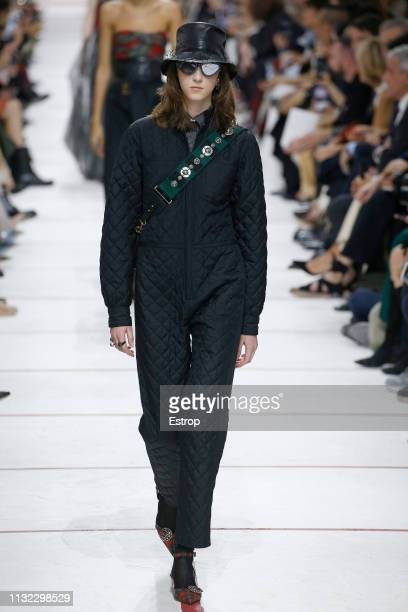 Model walks the runway at the Christian Dior show at Paris Fashion Week Autumn/Winter 2019/20 on February 26, 2019 in Paris, France.