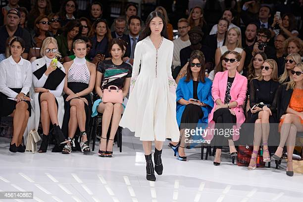 A model walks the runway at the Christian Dior Spring Summer 2015 fashion show during Paris Fashion Week on September 26 2014 in Paris France