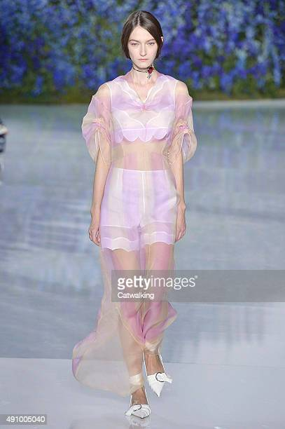A model walks the runway at the Christian Dior Spring Summer 2016 fashion show during Paris Fashion Week on October 2 2015 in Paris France