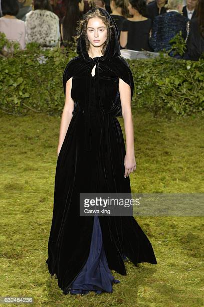A model walks the runway at the Christian Dior Spring Summer 2017 fashion show during Paris Haute Couture Fashion Week on January 23 2017 in Paris...