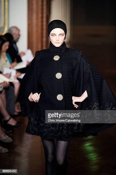 PARIS JULY 07 A model walks the runway at the Christian Lacroix fashion show during Paris Fashion Week Haute Couture Autumn/Winter 2009/2010 on July...