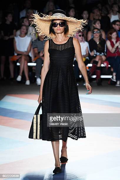 A model walks the runway at the Christian Siriano fashion show during New York Fashion Week The Shows at ArtBeam on September 10 2016 in New York City