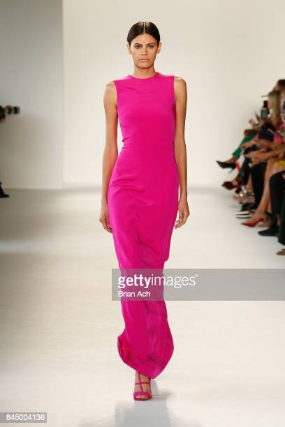 A model walks the runway at the Christian Siriano fashion show during New York Fashion Week The Shows at Pier 59 on September 9 2017 in New York City
