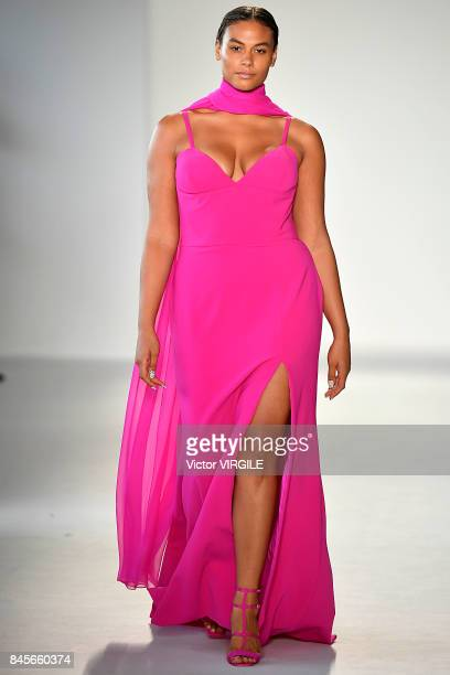 A model walks the runway at the Christian Siriano Ready to Wear Spring/Summer 2018 fashion show during New York Fashion Week on September 9 2017 in...