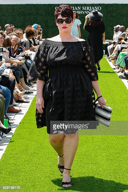 A model walks the runway at the Christian Siriano X Lane Bryant Collection at United Nations on May 9 2016 in New York City