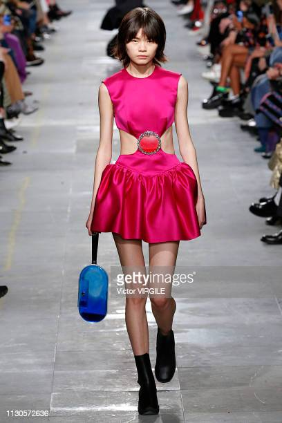 A model walks the runway at the Christopher Kane Ready to Wear Fall/Winter 20192020 fashion show during London Fashion Week February 2019 on February...