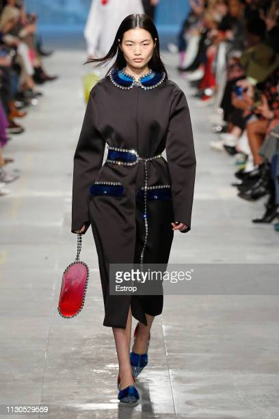 A model walks the runway at the Christopher Kane show during London Fashion Week February 2019 on February 18 2019 in London England