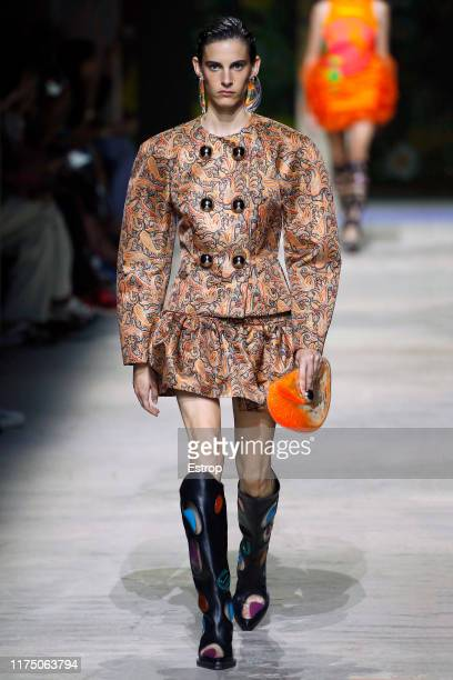 A model walks the runway at the Christopher Kane show during London Fashion Week September 2019 on September 16 2019 in London England