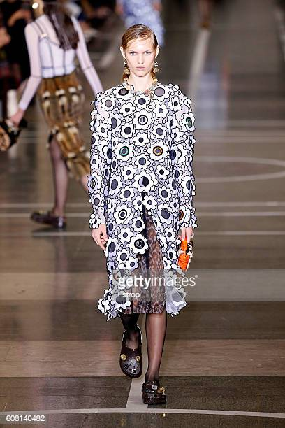 A model walks the runway at the Christopher Kane show during London Fashion Week Spring/Summer collections 2017 on September 19 2016 in London United...