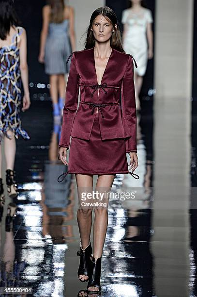 A model walks the runway at the Christopher Kane Spring Summer 2015 fashion show during London Fashion Week on September 15 2014 in London United...