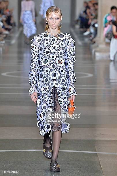 A model walks the runway at the Christopher Kane Spring Summer 2017 fashion show during London Fashion Week on September 19 2016 in London United...