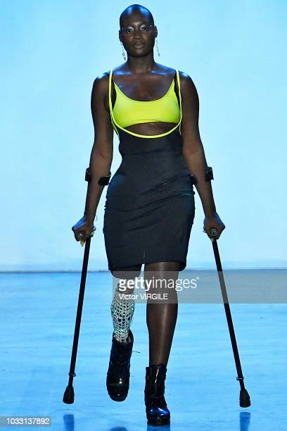 Model walks the runway at the Chromat Spring/Summer 2019 fashion show during New York Fashion Week on September 7, 2018 in New York City.