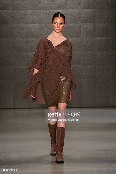 A model walks the runway at the Cigdem Akin show during Mercedes Benz Fashion Week Istanbul FW15 on March 19 2015 in Istanbul Turkey