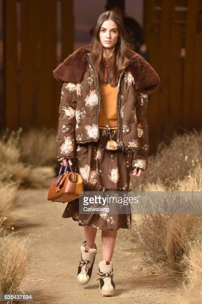 A model walks the runway at the Coach Autumn Winter 2017 fashion show during New York Fashion Week on February 14 2017 in New York United States