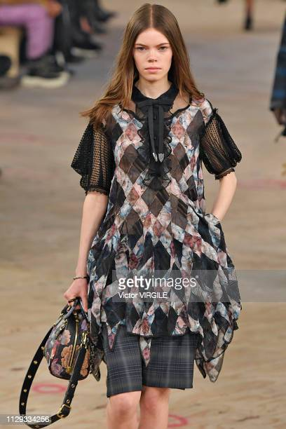 A model walks the runway at the Coach Ready to Wear Fall/Winter 20192020 fashion show during New York Fashion Week on February 12 2019 in New York...