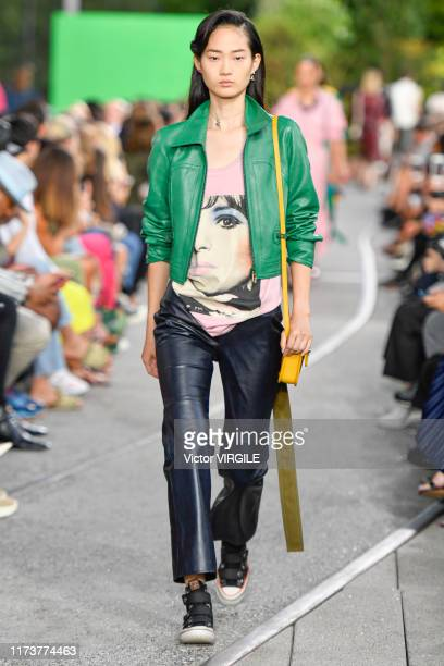 Model walks the runway at the Coach Ready to Wear Spring/Summer 2020 fashion show during New York Fashion Week: The Shows on September 10, 2019 in...