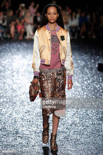 A model walks the runway at the Coach Spring Summer 2018 fashion show during New York Fashion Week on September 12 2017 in New York United States