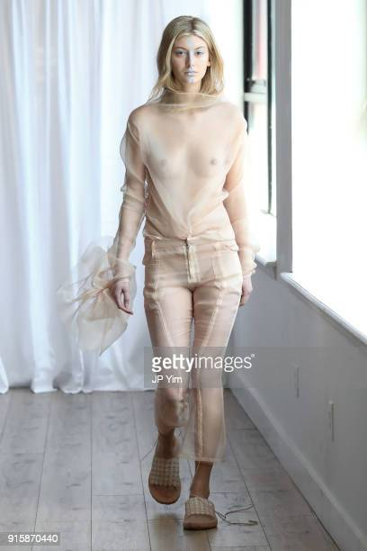 A model walks the runway at the Collina Strada AW18 Collection during New York Fashion Week on February 8 2018 in New York City