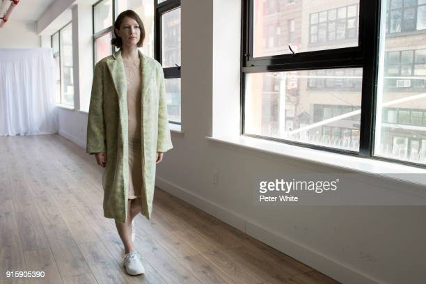 A model walks the runway at the Collina Strada AW18 Show during New York Fashion Week on February 8 2018 in New York City