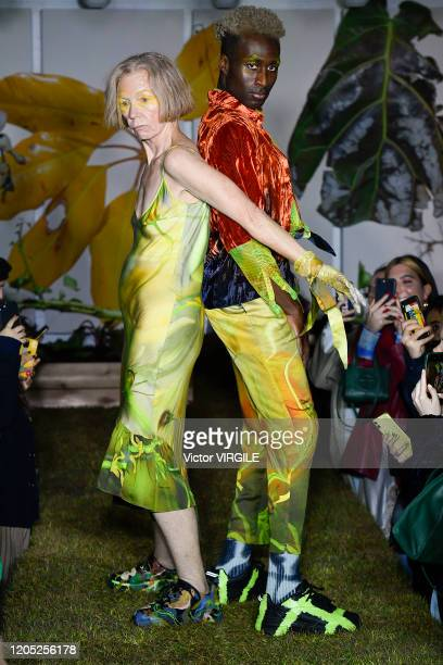 A model walks the runway at the Collina Strada Ready to Wear Fall/Winter 20202021 fashion show during New York Fashion Week on February 09 2020 in...
