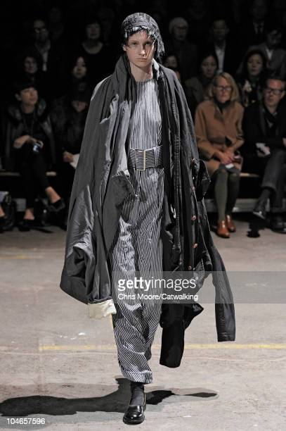 A model walks the runway at the Comme Des Garcons fashion show during Paris Fashion Week on October 2 2010 in Paris City