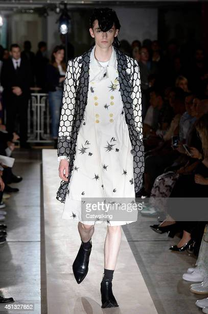 A model walks the runway at the Comme Des Garcons Homme Plus Spring Summer 2015 fashion show during Paris Menswear Fashion Week on June 27 2014 in...