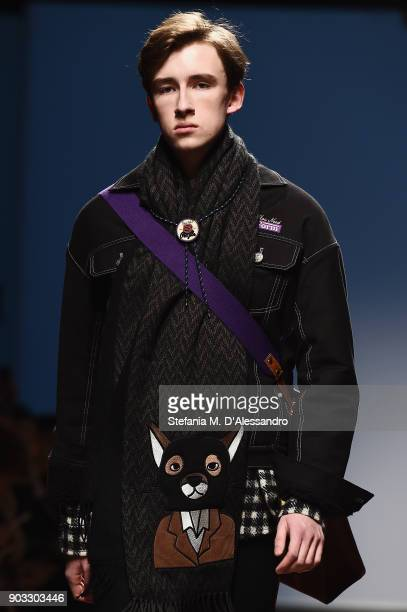 Model walks the runway at the Concept Korea: Beyond Closet e Bmuet show during the 93. Pitti Immagine Uomo at Fortezza Da Basso on January 10, 2018...
