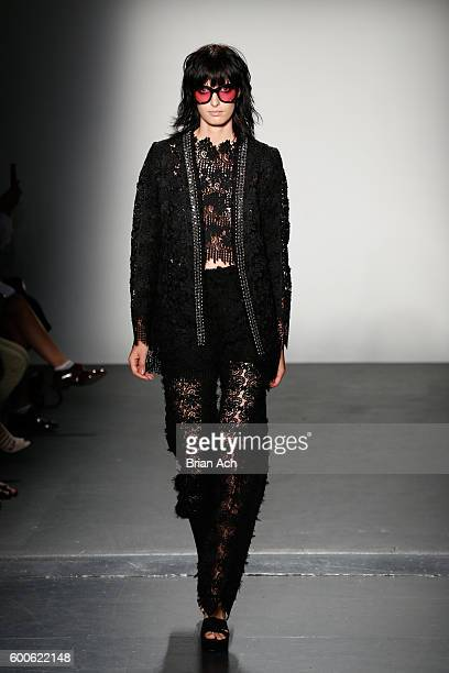 Model walks the runway at the Concept Korea fashion show during New York Fashion Week The Shows September 2016 at Pier 59 Studios on September 8 2016...