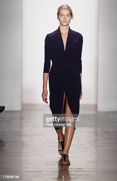 A model walks the runway at the Costello Tagliapietra fashion show during MADE Fashion Week Spring 2014 at Milk Studios on September 5 2013 in New...