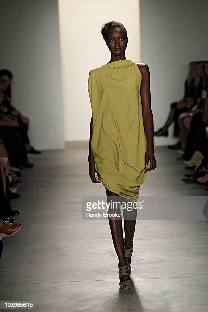 Model walks the runway at the Costello Tagliapietra Spring 2011 fashion show during Mercedes-Benz Fashion Week at Milk Studios on September 10, 2010...