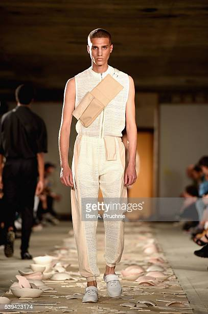 Model walks the runway at the Cottweiler show during The London Collections Men SS17 at on June 11, 2016 in London, England.