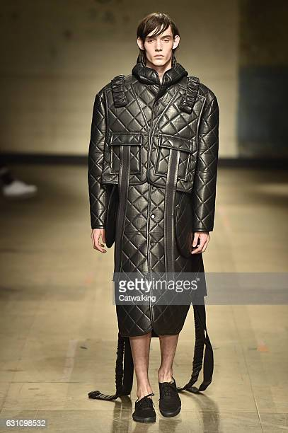 A model walks the runway at the Craig Green Autumn Winter 2017 fashion show during London Menswear Fashion Week on January 6 2017 in London United...