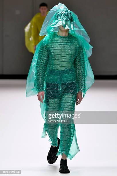 A model walks the runway at the Craig Green Fall/Winter 20192020 fashion show during London Fashion Week Men's January 2019 on January 07 2019 in...