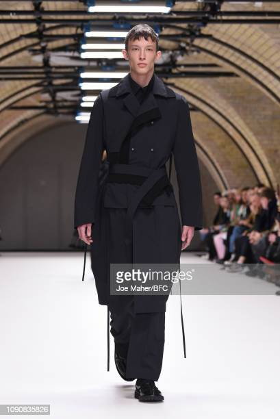 A model walks the runway at the Craig Green show during London Fashion Week Men's January 2019 on January 07 2019 in London England