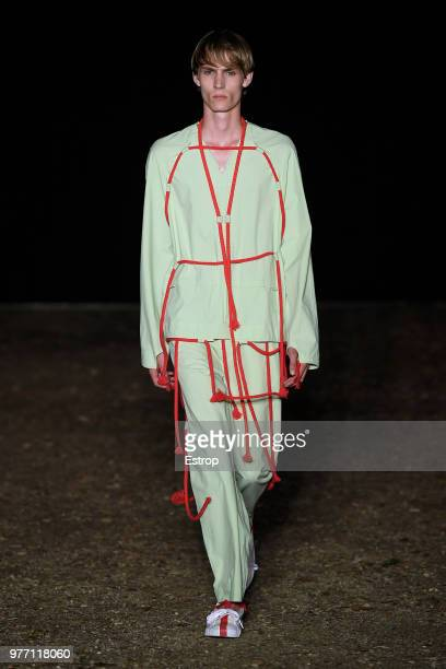 A model walks the runway at the Craig Green show during the 94th Pitti Immagine Uomo on June 14 2018 in Florence Italy