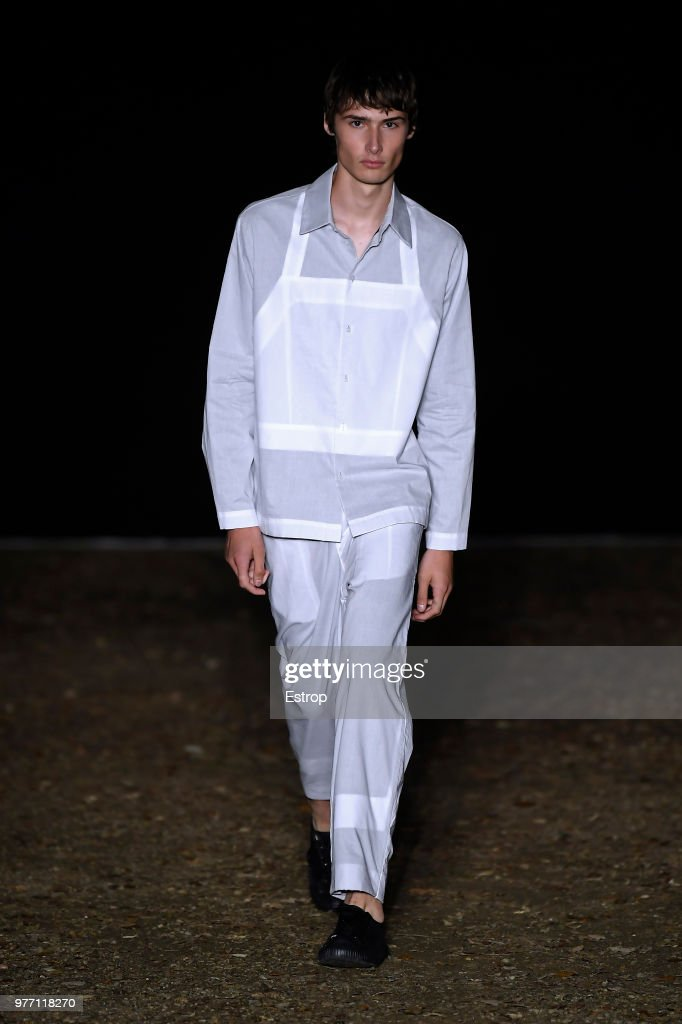 A model walks the runway at the Craig Green show during the 94th Pitti Immagine Uomo on June 14, 2018 in Florence, Italy.