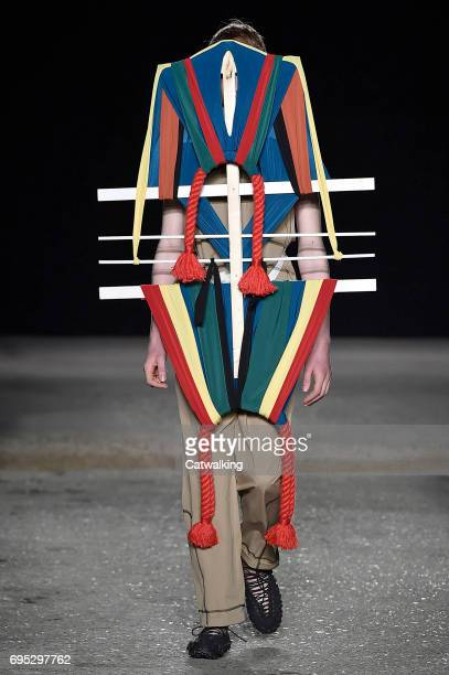 A model walks the runway at the Craig Green Show Spring Summer 2018 fashion show during London Menswear Fashion Week on June 12 2017 in London United...