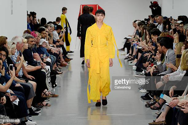 A model walks the runway at the Craig Green Spring Summer 2016 fashion show during London Menswear Fashion Week on June 12 2015 in London United...