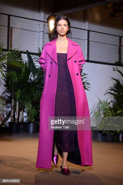 Model walks the runway at the Creatures of Comfort presentation during New York Fashion Week at Gallery 1, Skylight Clarkson Sq on February 9, 2017...